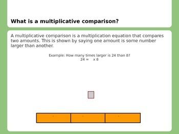 Multiplicative Comparisons MCC4.OA.1 MCC4.OA.2 ppt