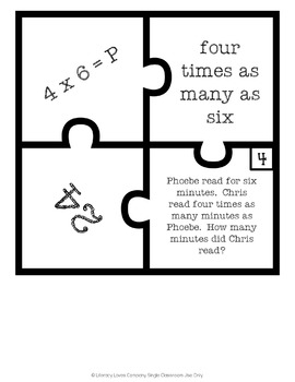 Multiplicative Comparisons Puzzles