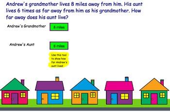 Multiplicative Comparisons- Smartboard Lesson and Classwork