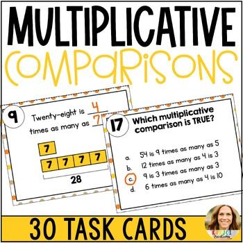 Multiplicative Comparisons Task Cards