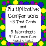 Multiplicative Comparisons Digital Task Cards & Worksheets