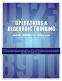 Multiplicative Comparisons Teacher Lesson Plan & Student Worksheets