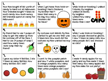 Multiplicative Comparisons for Halloween 4.OA.1