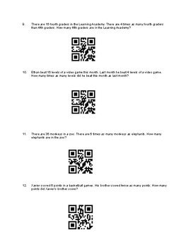 Multiplicative Comparisons with QR Codes