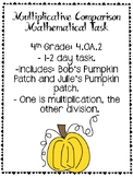 Multiplicative Comparison Mathematical Task
