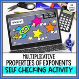 Multiplicative Properties of Exponents Digital Self Checki