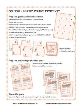 Multiplicative Property Go Fish Game
