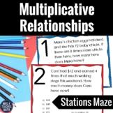 Multiplicative Relationships Stations Maze  4.OA.2
