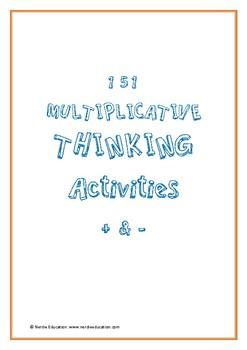 Multiplicative Thinking Activities