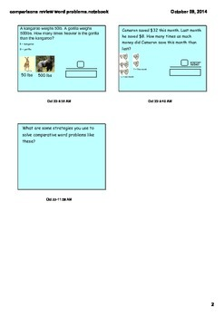 Multiplicative and Division Comparisons with Word Problems 4.OA.1