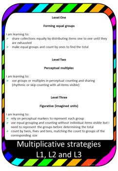 Multiplicative strategies Numeracy progression bump it up for Australian Curr