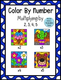 Multiplication Color By Number Multiply by 2, 3, 4, 5