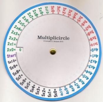 Multiplication Wheel Basic Math Facts Memorization Review Common Core