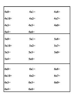 Multiplicircle - One Minute Multiplication Test Memorization