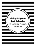 Multiplicity and End Behavior Matching Graphs and Equations Activity