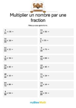 Multiplier un nombre par une fraction 11 - Résous ces opérations