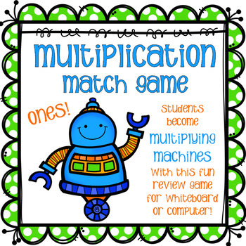 Multipliers Match Game -Ones - FREEBIE!