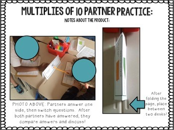 Multiplies of 10 Partner Practice {CCSS 3.NBT.A.3}