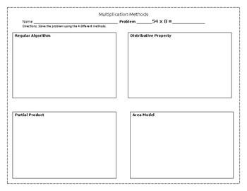 Multipling -- Using 4 Different Methods