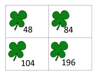 Multiply 2 Digit Number X 1 Digit Number--Center & More--St. Patrick's Day theme