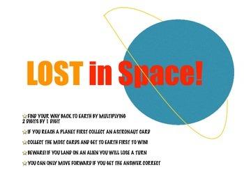 Multiply 2 Digit by 1 Digit Numbers - Lost in Space Multiplication Game!