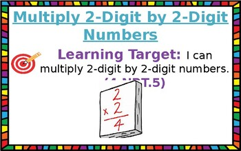 Multiply 2-Digit by 2-Digit Numbers Standard Algorithm by