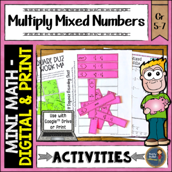 Multiply 2 Mixed Numbers Math Activities Google Slides and Printable