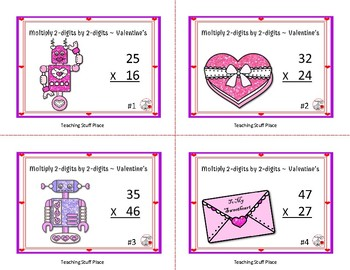 Multiply 2-digits by 2-digits, Grade 4 ... VALENTINE'S DAY   2018 NEW