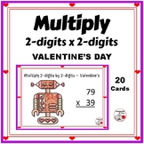 Multiply 2-digits by 2-digits, Grade 4  ♥  VALENTINE'S DAY ♥