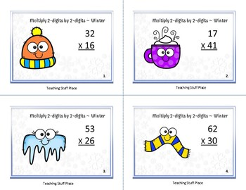 Multiply 2-digits by 2-digits, Grade 4 WINTER