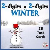 Multiply 2-digits by 2-digits WINTER ... Task Cards ... MATH  Grades 4-5