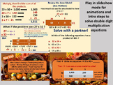 Multiply 2 digits by 2 digits using area model PPT presentation