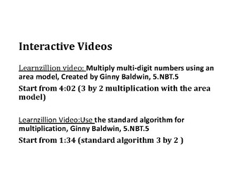 Multiply 3 Digit by 2 Digit Numbers PowerPoint