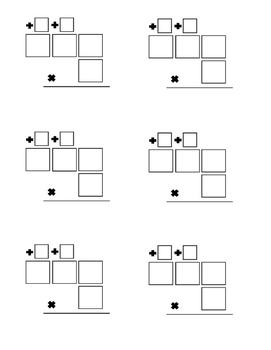 Multiply 3 Digits by 1 Digit Organizer