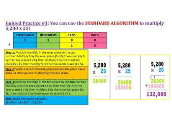 Multiply 4 Digit by 2 Digit Numbers PowerPoint