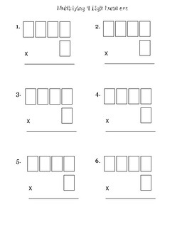 Multiply 4 digit by 1 digit numbers