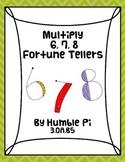 Multiply 6, 7, 8 Fortune Tellers- 3.OA.5