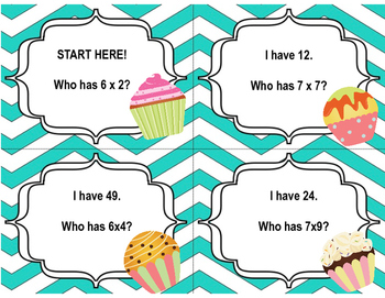 Multiply 6's & 7's Center Activities (Word Problems, Dice Game, I Have Who Has)