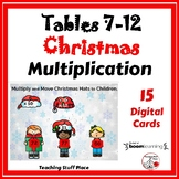 Multiply 7-12 CHRISTMAS ... Grade 3 MATH  Digital Paperless Cards