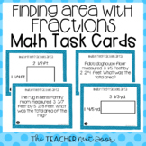 5th Grade Finding Area With Fractions Task Cards