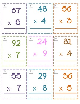 Multiply Around the Room 2-3 Digits