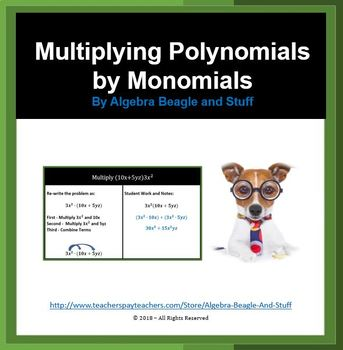 Multiplying Polynomials By Monomials Teaching Resources Teachers