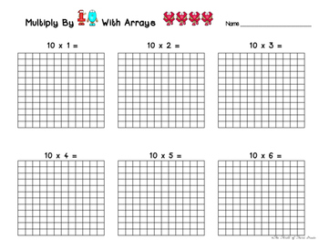 Multiplication By 10 (Arrays Graphic Organizer)