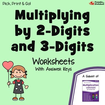 Multiply By 2 and 3 Digits Worksheets With Answer Keys