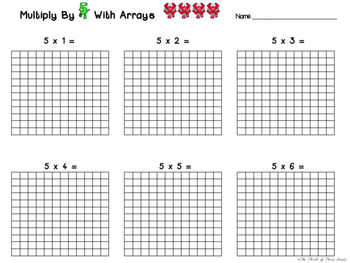 Multiplication By 5 (Arrays Graphic Organizer)