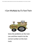 Multiply By 5's Train Math