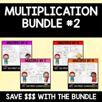 Multiply By 6, 7, & 8 {MINI BUNDLE!!}