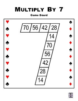 Multiply By 7 Playing Card Game