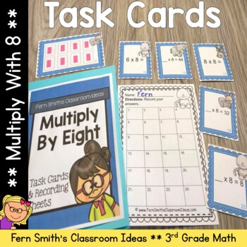Multiply By Eight Task Cards