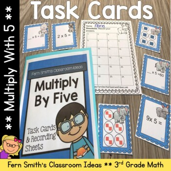 Multiply By Five Task Cards